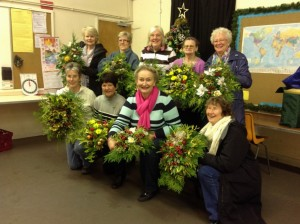 christmas flower workshop photo